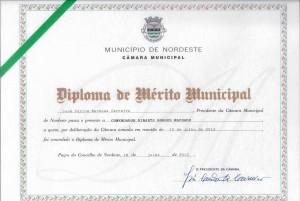 Diploma Mérito Municipal_Nordeste