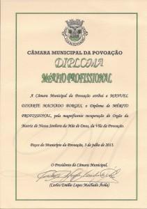 Diploma Mérito Profissional_Povoação