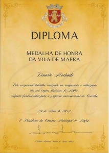 Diploma Medalha de Honra Mafra